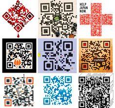 Innovaciones niponas en el diseño de #QRcodes. Nosotros aún vamos en pañales