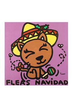 Fleas Navidad Giclee On Canvas Todd Goldman