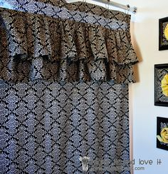 I have always wanted to do this! Decorate My Home, Part 17 – Ruffled Shower Curtain | Make It and Love It
