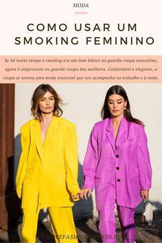 Se há muito tempo o smoking era um item básico no guarda-roupa masculino, agora é onipresente no guarda-roupa das mulheres. Confortável e elegante, a roupa se tornou uma moda essencial que nos acompanha no trabalho e à noite.