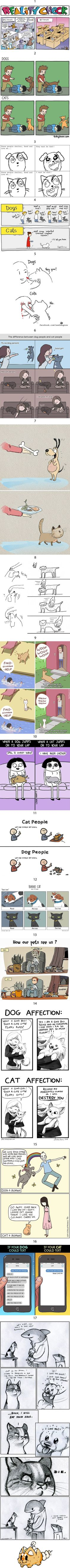17 Comics Perfectly Describe The Differences Between Having A Cat And A Dog