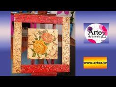 Artesanías - Texturas y Coloreado en porta retratos y marcos, utilizando Plasticola - YouTube