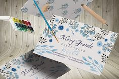 Check out Watercolor business card by Webvilla on Creative Market