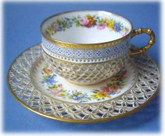Beautiful Tea Cup And Saucer  Love the look.