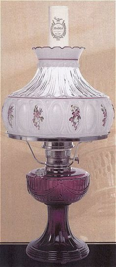 New Aladdin Mantle Lamp Company Purple Amethyst Short Lincoln Drape Lamp #C6183 jackscountrystore store. Aladdin Mantle Lamp Company Part Number C6183.