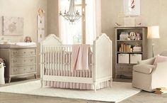 Baby Nursery Room Design Ideas - Gray and pink baby girls room : Baby Nursery Room Design Ideas – Gray and pink baby girls room