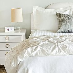 Clean & Crisp Bedroom Makeover   Layer on a new look with this clean and crisp $300 bedroom makeover!   SouthernLiving.com