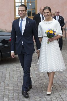 Crown Princess Victoria of Sweden and Prince Daniel of Sweden attended the citizenship ceremony at the Uppsala Castle on June 6, 2015 in Uppsala, Sweden.