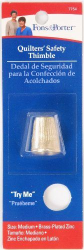 Fons & Porter Quilters' Safety Thimble, Medium