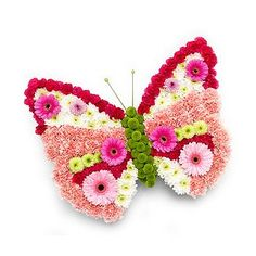 Butterfly flower tribute