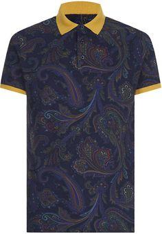 5bfe1eaad63a Love this: ETRO Paisley Polo Shirt @Lyst Coberturas, Camisetas Masculinas,  Look Masculinos