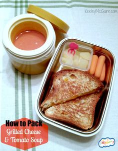 -Keep soup hot and toasted sandwiches crisp - how to pack grilled cheese and soup for lunch MOMables.com