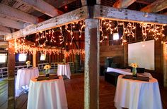 Inside Barn; where the cake and dancing will take place. They will set up cocktail tables for people have drinks (bar inside barn)