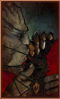 Dragon Age Inquisition: The Iron Bull Tarot Card - Romance