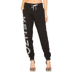 Kenzo Light Brushed Molleton Sweatpant (£220) ❤ liked on Polyvore featuring activewear, activewear pants, pants, jogger sweatpants, cotton sweatpants, kenzo, sweat pants and cotton sweat pants