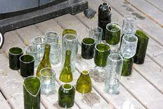 How to turn wine bottles into custom vases | Offbeat Bride