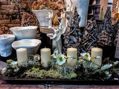 repräsentatives Adventsfries  #Advent #Weihnachten #Adventsfries #Kerzen #Raumschmuck #Floristik #Dekoration    EBK-Blumenmönche Blumenhaus – Google+