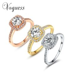 VOGUESS Fashion Hot Women Rings Women Anillos Hot Selling Wedding Finger Ring Crystal Jewelry Bague Summer Jewelry