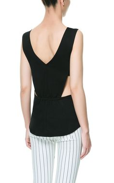 VEST TOP WITH DETAIL ON THE BACK from Zara