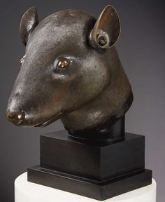 François-Henri Pinaut returns the rat and rabbit bronzes looted from the Imperial Summer Palace Rat Head, Sculptures, Lion Sculpture, Head Statue, Summer Palace, China Art, National Museum, Bronze Sculpture, Types Of Art