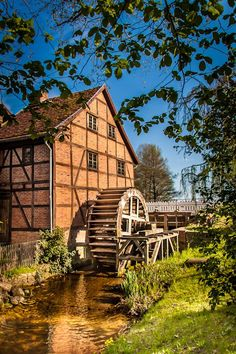 An old Mill in Schwerin, Germany.