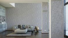 Schöner Wohnen Tapete 944265; simuliert auf der Wand