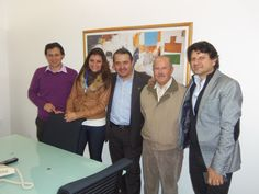Visita del Ing. Fernando Guerrero Gerente General,CEO de Tame y del Arq. Francisco Espinoza