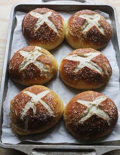 How to make pretzel bread bowls (for soup!)