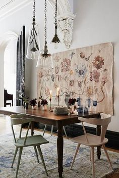 Scandinavian living room design for best home decoration 6 ⋆ Main Dekor Network Dining Room Walls, Dining Room Design, Room Chairs, Deco Originale, Room Wall Decor, Wall Decor Boho, Room Art, Bohemian Decor, Home And Deco