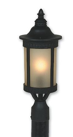 """Artcraft Lighting AC8353BK Michigan Outdoor Post Head Light, Black by Artcraft. $135.56. From the Manufacturer                Michigan outdoor post head with amber glassware in black finish. For over 50 years, ARTCRAFT has earned a reputation for excellence in home lighting products that is the envy of many companies in North America. ARTCRAFT is a """"family"""" owned business with many talented and skilled individuals, all dedicated to quality in manufacturing and to pe..."""