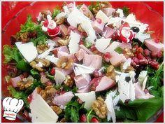 ΓΙΟΡΤΙΝΗ ΣΑΛΑΤΑ!!! Cobb Salad, Feta, Potato Salad, Food And Drink, Cheese, Ethnic Recipes, Happy, Happiness, Being Happy