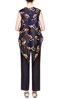 Double Paper Twill Pants by DELPOZO Now Available on Moda Operandi