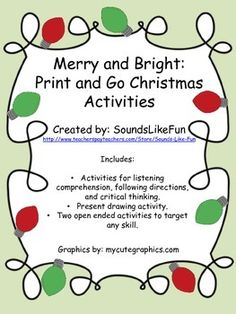 5 great holiday activities for speechlanguage therapy Targets