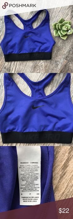 Nike Pro X Back Sports Bra - Small Nike Pro X Back Sports Bra - Small. 88% polyester, 12% spandex. Nike Intimates & Sleepwear Bras