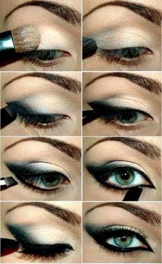 make-up trends smokey eyes unwiderstehlich schminken Eye Makeup Steps, Cat Eye Makeup, Smokey Eye Makeup, Skin Makeup, Makeup Tips, Beauty Makeup, Makeup Tutorials, Smoky Eye, Makeup Ideas