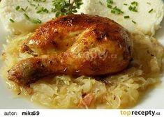 Kuře á la husa recept - TopRecepty.cz Czech Recipes, Salty Foods, New Menu, Family Meals, Poultry, Ham, Good Food, Food And Drink, Turkey