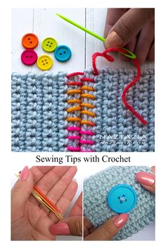 Sewing Tips With Crochet Tutorial – (naztazia) The Effective Pictures We Offer You About how to crochet videos stitches A quality picture can tell you. Sewing Projects For Beginners, Crochet For Beginners, Knitting Projects, Point Invisible, Invisible Stitch, Crochet Basics, Crochet Stitches, Knit Crochet, Spiral Crochet