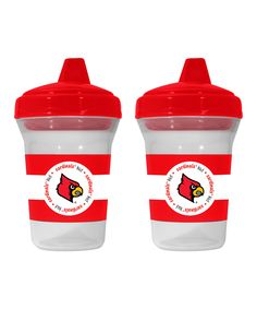 Louisville Cardinals Sippy Cup - Set of Two by Baby Fanatic #zulily #zulilyfinds