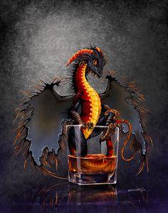 Dragon Digital Art - Rum Dragon by Stanley Morrison