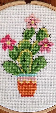 Cross Stitch Quotes, Cross Stitch Pictures, Cross Stitch Cards, Cross Stitching, Cross Stitch Embroidery, Embroidery Patterns, Crochet Patterns, Cactus Cross Stitch, Cross Stitch Pillow