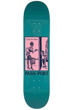 Passport Skateboard Deck Pozter If you only knew Skateboard Deck Art, Skateboard Parts, Skateboard Design, Skateboard Girl, Custom Skateboards, Complete Skateboards, Cool Skateboards, Cruiser Skateboards, Longboard Design