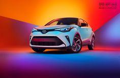 Toyota with Lisa Linke on Behance Automotive Photography, Car Photography, Car Backgrounds, Colour Architecture, Toyota C Hr, 3d Model Character, Ads Creative, Creative Advertising, Lisa