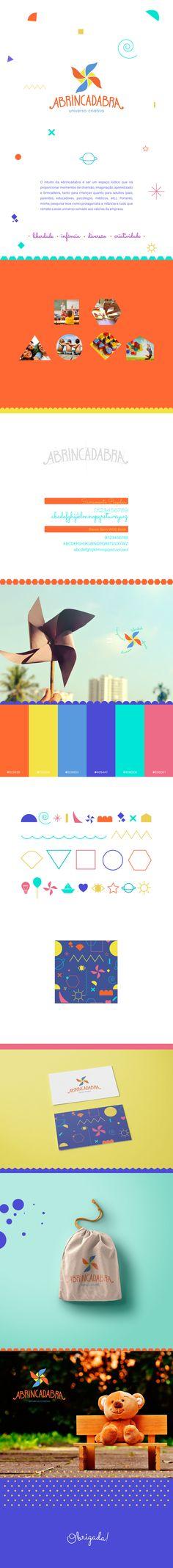 Projeto de identidade visual feito pra empresa Abrincadabra, veja mais em www.nataliamastrela.com :)
