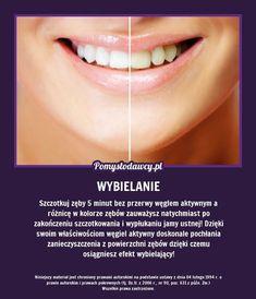 ZASKAKUJĄCY TRIK NA WYBIELENIE ZĘBÓW, KTÓREGO NIE ZNASZ - EFEKTY WIDOCZNE JUŻ PO 5 MINUTACH! Beauty Habits, Beauty Secrets, Diy Beauty, Healthy Beauty, Healthy Tips, Health And Beauty, Cosmetic Treatments, Simple Life Hacks, Natural Cosmetics