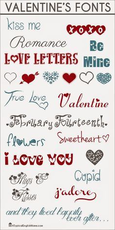 DIY Planner & co.: Fonts San Valentino #1#font #valentine