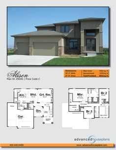 29046 Alison Clean lines and shallow angles speak the unmistakable language of Mediterranean styling on this family-sized, house plan. Tall columns hi Bungalow House Plans, Bedroom House Plans, Dream House Plans, Building Plans, Building A House, Built In Lockers, Mediterranean House Plans, Dream House Exterior, Modern Architecture House