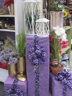 Ribbon From the Purple, Purple, Purple Theme at Your Christmas Shop at Stauffers of Kissel Hill Garden Centers. (http://www.skh.com/home-garden/departments-2/the-christmas-shop/)