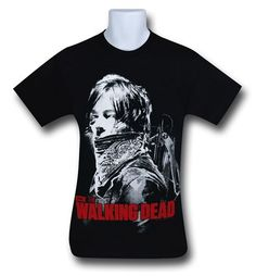 Here we have Norman Reedus pretending to be Dennis Moore on the 100% cotton Walking Dead Daryl Crossbow T-Shirt! What do you mean he isn't here for our Lupins? Dedicated to the fan-favorite Daryl Dixon looking particularly badass, the Walking Dead Daryl Crossbow T-Shirt has the zombie archery hunter represented in a matrix like print. You may not have that sweet poncho of his but at least you can get this sweet shirt! <br>