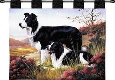 Border Collie (Wall Hanging with Wood Rod)