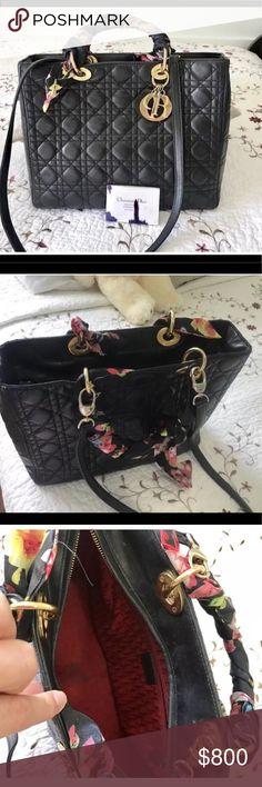 c065dc883e5b Christian Dior Lady Dior lambskin black handbags Lady Dior 100% authentic  Dior
